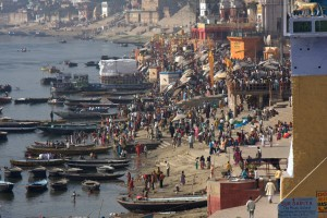 The ghats on the Ganges, Varinasi, India.  Photo courtesy: Dave Adair