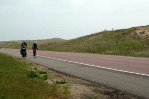 Climate talks while pedaling through the sandhills.  Unforgettable