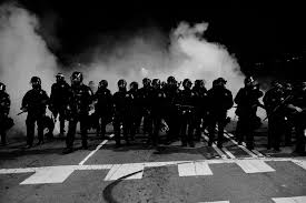 Fires and tear gas in Berkeley, 12/2014